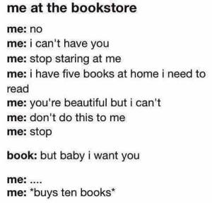 me at the bookstore