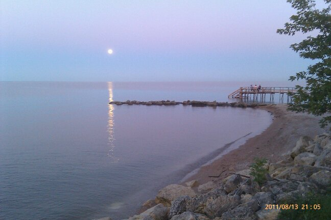This picture is from a couple of years ago. Looking over the beach on a gorgeous evening.