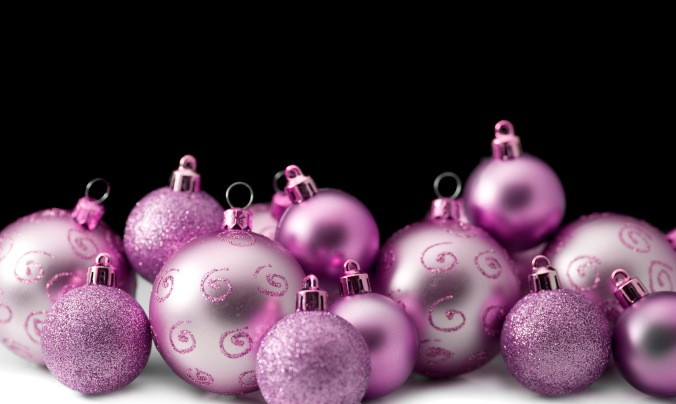 pink festive baubles